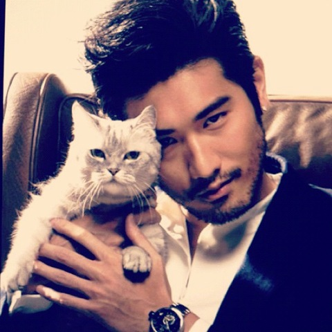 Godfrey Gao and Cat